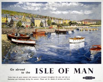 Port St Mary, Isle of Man. Vintage British Railways (LMR) Travel poster by Peter Collins